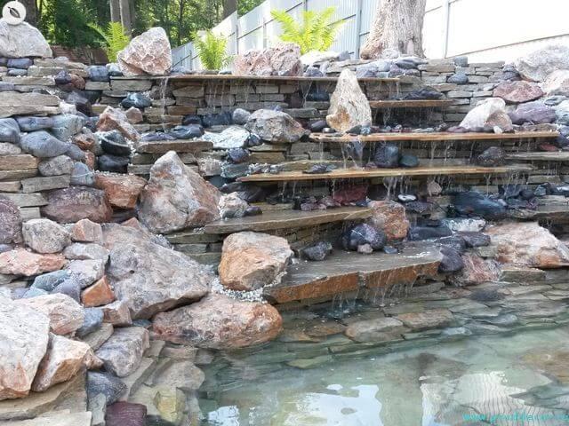 строительство водопада