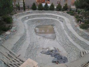 Искусственный водоём в Краснодаре.