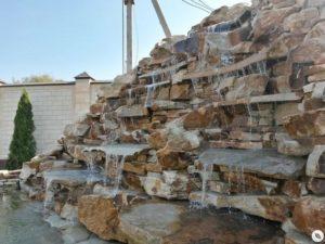 Строительство искусственного водопада