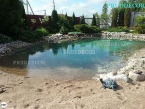 Искусственный водоём для купания. Строительство пруда в Краснодаре