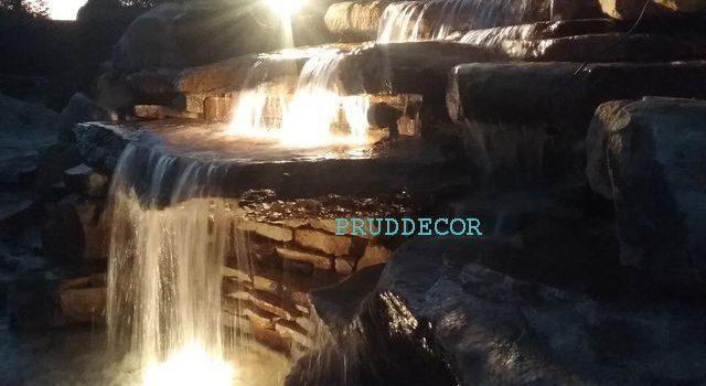 Водопад и декоративный пруд в Краснодаре под ключ в Краснодаре и крыму