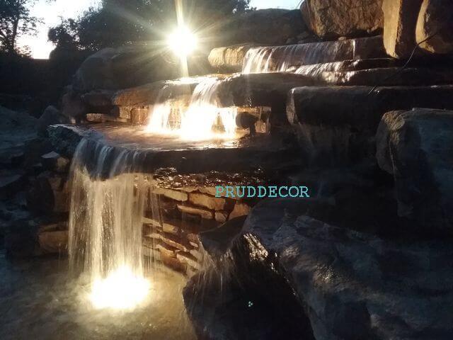 Водопады. строительство водопада в краснодаре и крыму