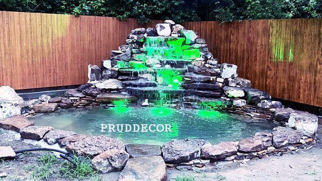 Декоративный пруд и водопад в краснодаре