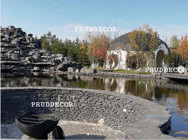 Пруд и водопад в Краснодаре