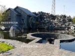 Декорирование пруда. Водопад в Краснодарском крае