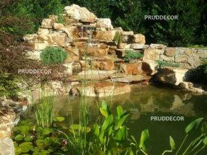 декоративный прудик с водопадом