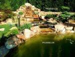 Каскадный водопад с прудом в Анапе