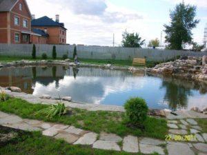 Искусственный пруд для рыб и купания