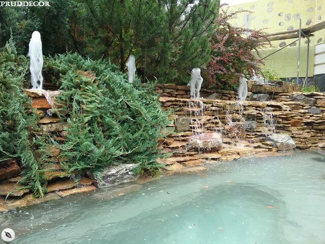 Декоративный пруд с фонтанами. Строительство декоративного пруда с фонтанами в Краснодаре