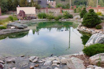 Искусственный пруд 400 куб, искусственный водоём в краснодаре