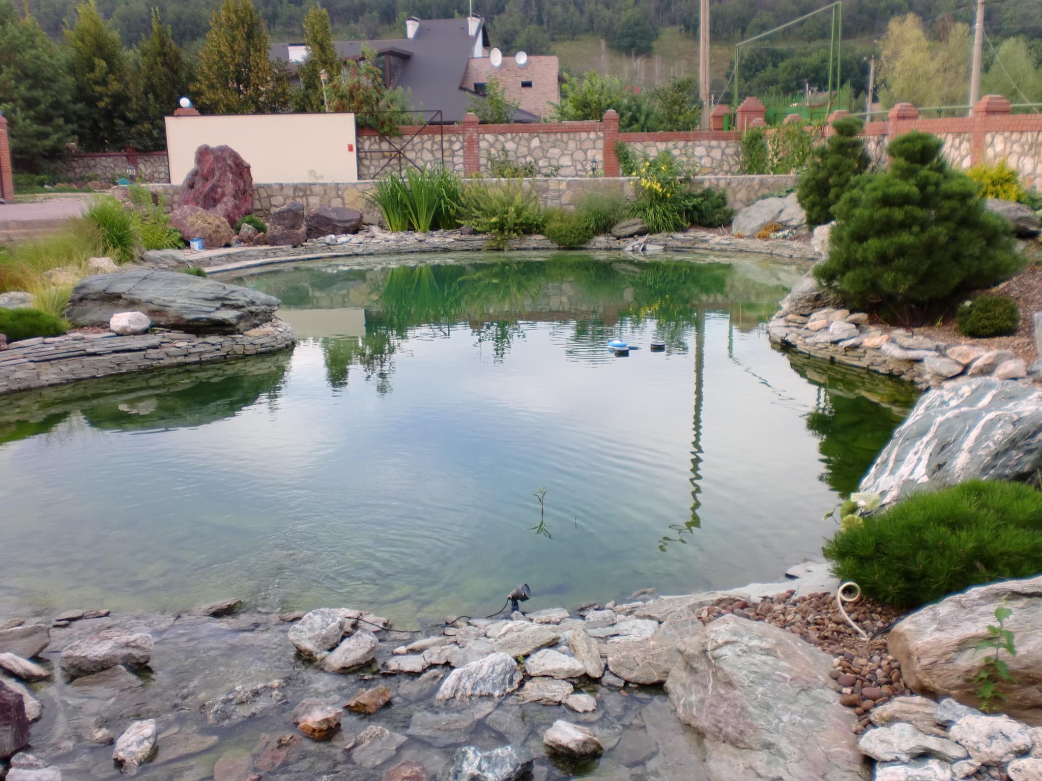 Искусственный пруд 400 куб. м