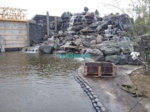 Водопад из природного камня в Краснодарском крае и Крыму