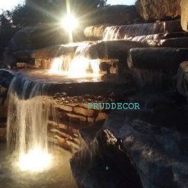 Водопад и декоративный пруд в Краснодарском крае
